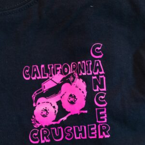 Shirt Front - California Cancer Crusher Logo